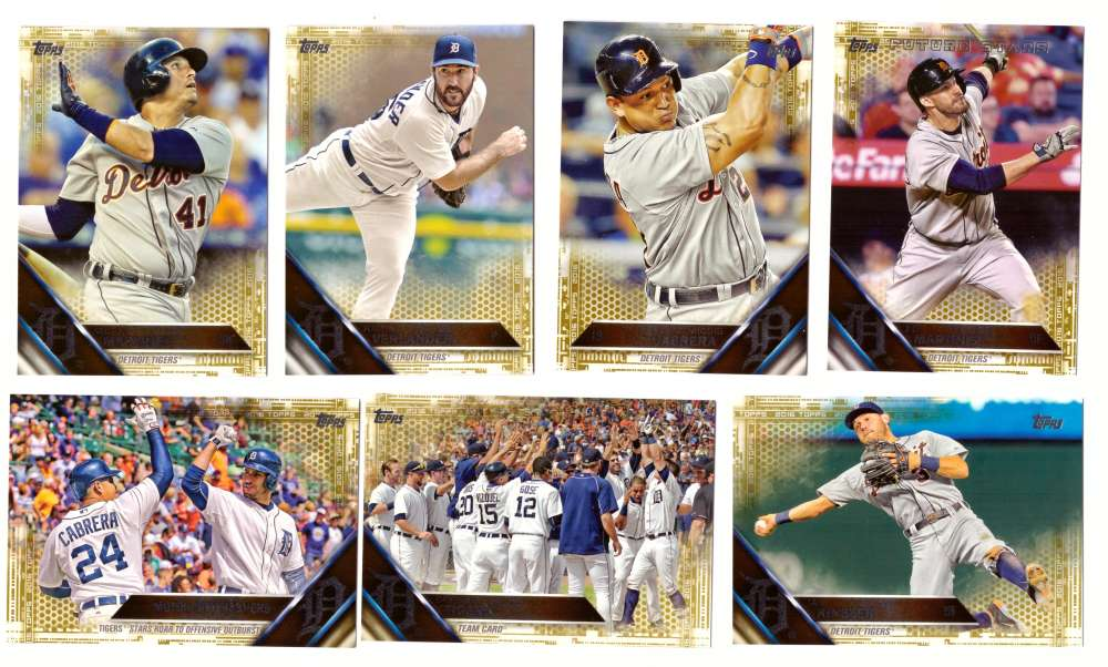 2016 Topps GOLD (#ed/2016) - DETROIT TIGERS Team Set