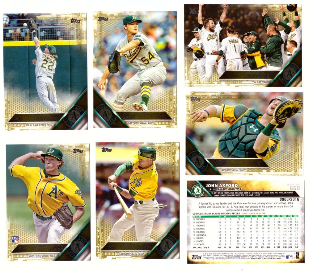 2016 Topps GOLD (#ed/2016) - OAKLAND As Team Set