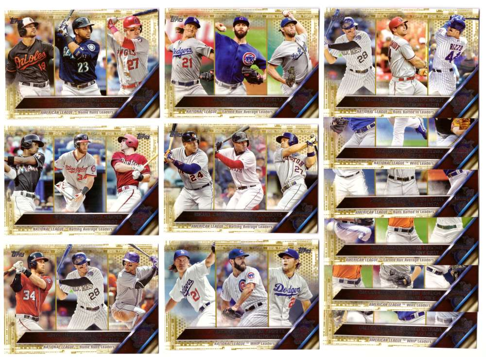 2016 Topps GOLD (#ed/2016) League Leaders 12 Card subset