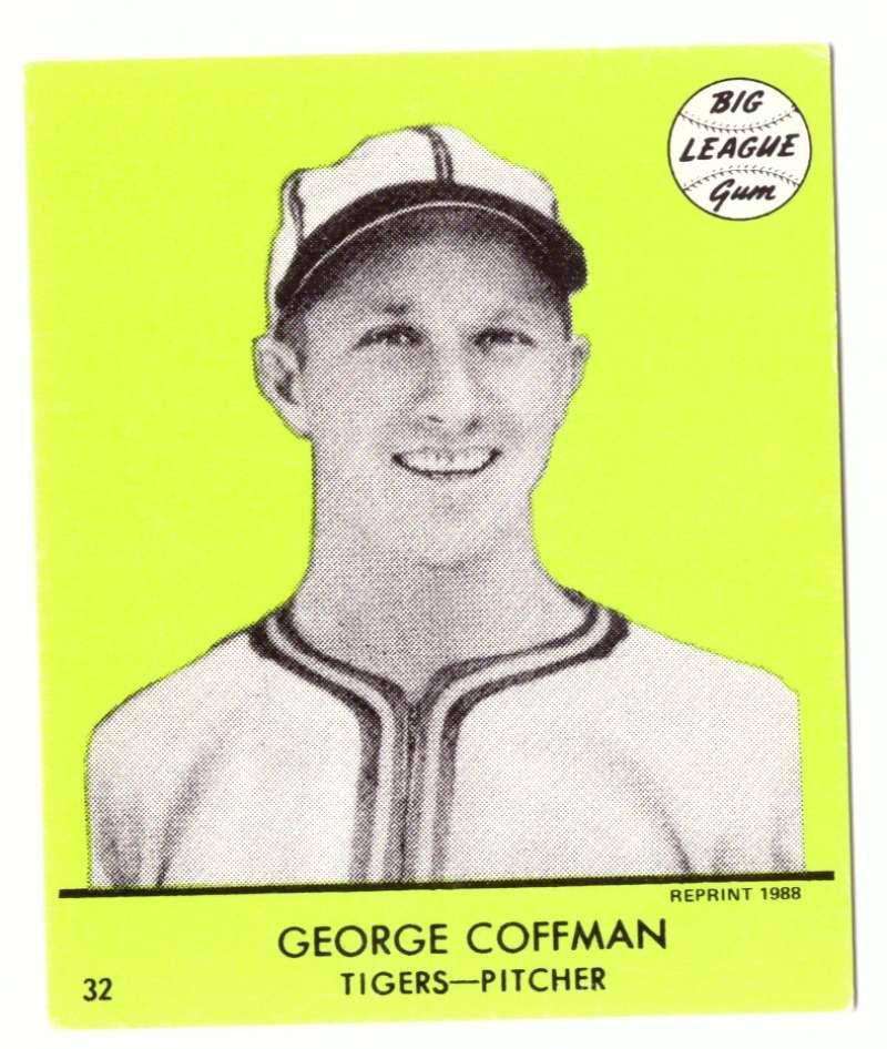 1941 Goudey (Green) Reprints - DETROIT TIGERS Team Set