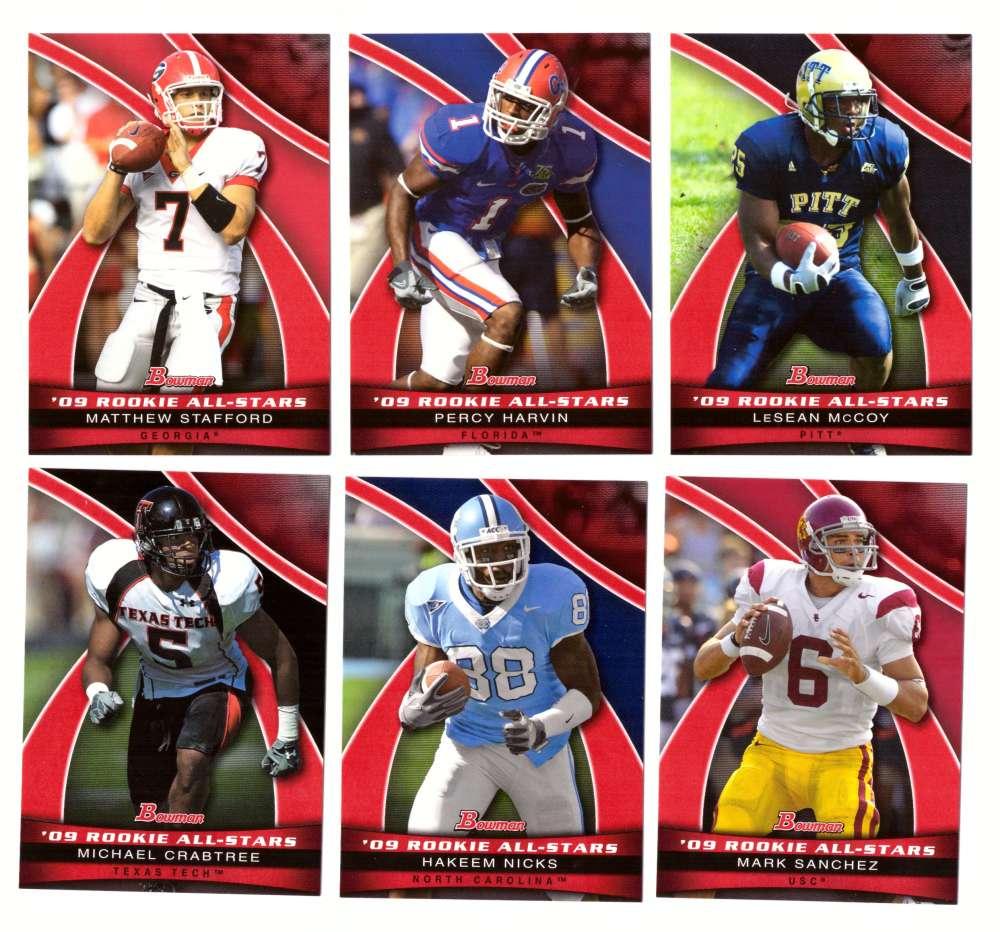 2009 Bowman Draft Football Rookie All-Stars 20 card insert set