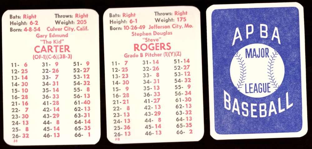 1975 APBA Original Season w/ EX Players - MONTREAL EXPOS Team Set