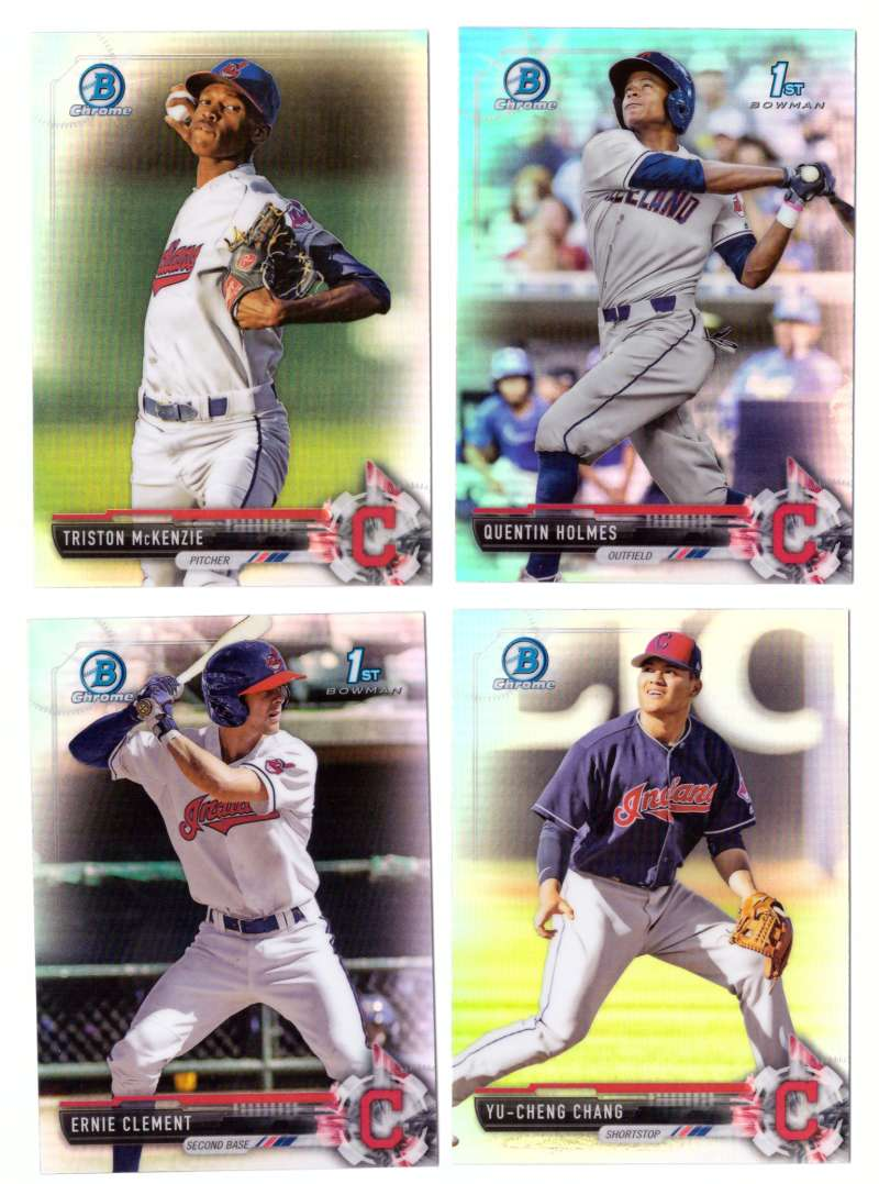 2017 Bowman Chrome Draft Refractors - CLEVELAND INDIANS Team Set