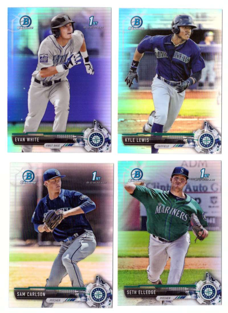 2017 Bowman Chrome Draft Refractors - SEATTLE MARINERS Team Set
