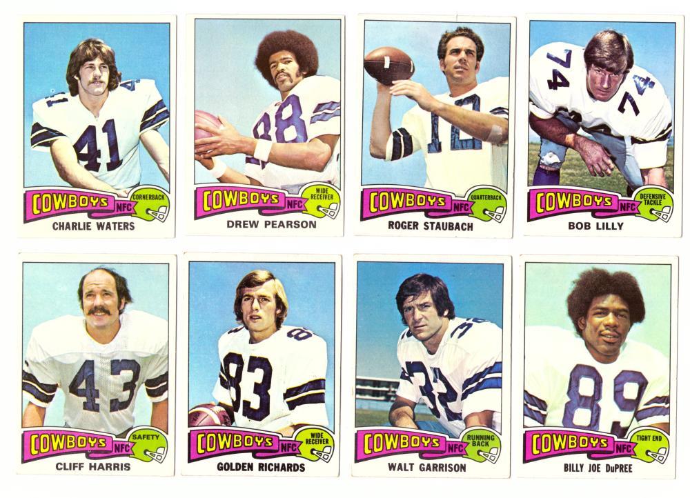 1975 Topps Football Team Set - DALLAS COWBOYS (B)