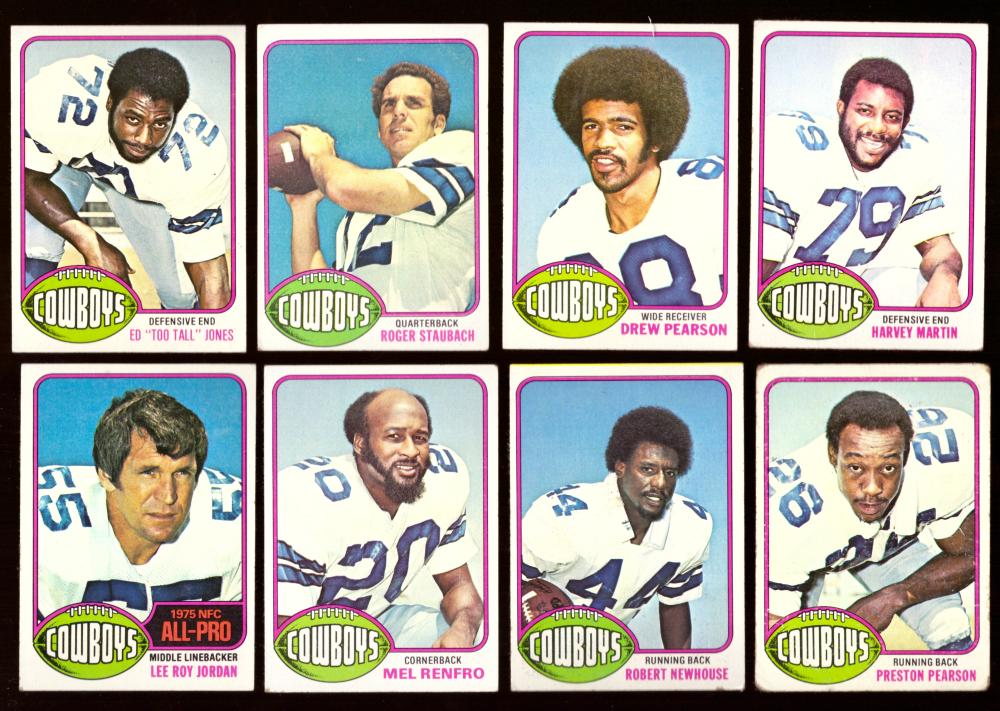 1976 Topps Football Near Team Set (17/20 cards VG condition) - DALLAS COWBOYS