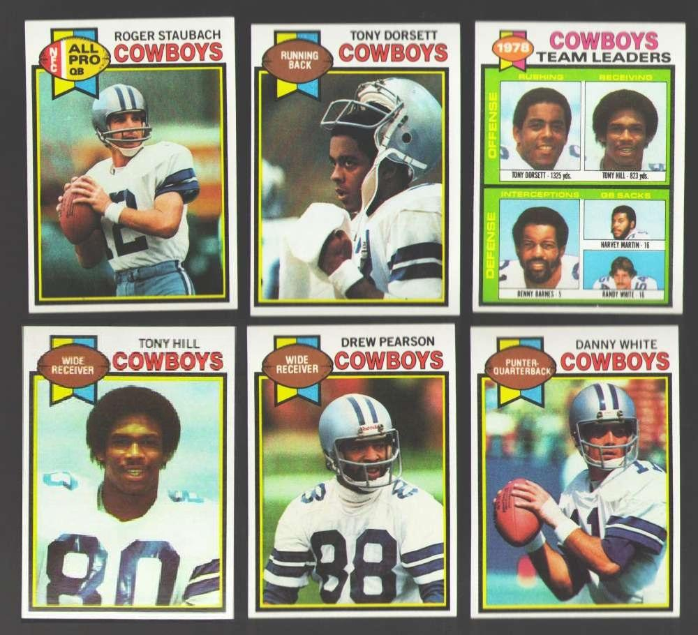 1979 Topps Football Team Set - DALLAS COWBOYS 18 cards checklist marked