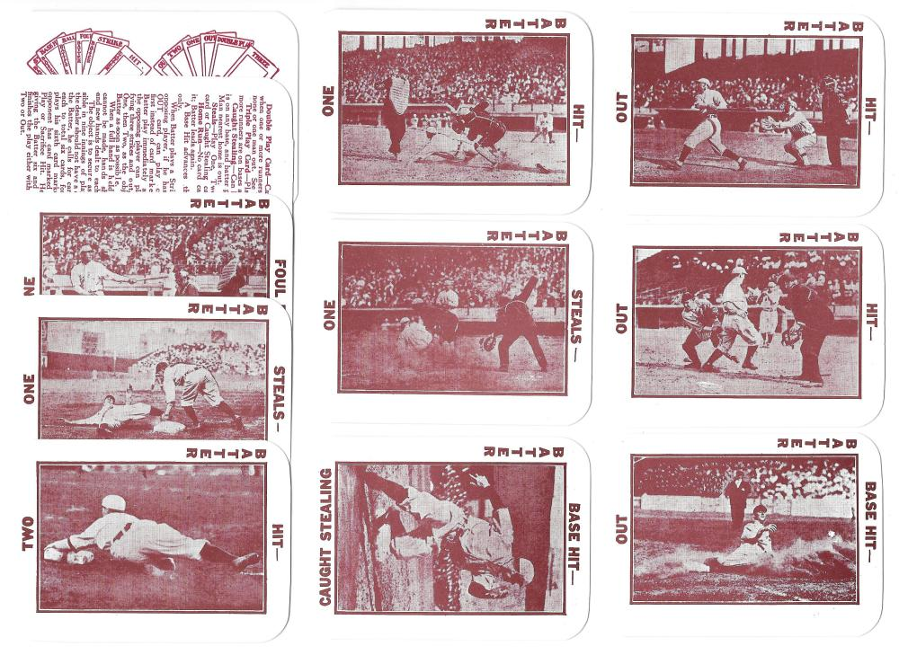 1913 National Game WG5 Reprints - 11 card lot of Non Player cards