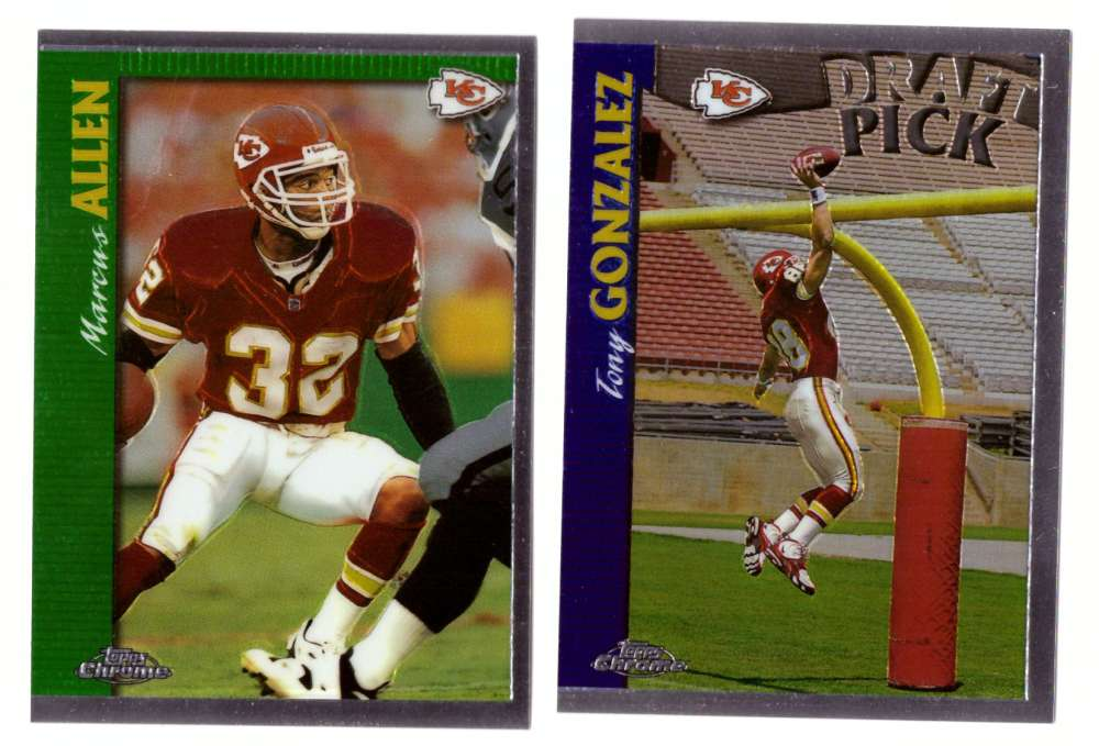 1997 Topps Chrome Football Team Set - KANSAS CITY CHIEFS
