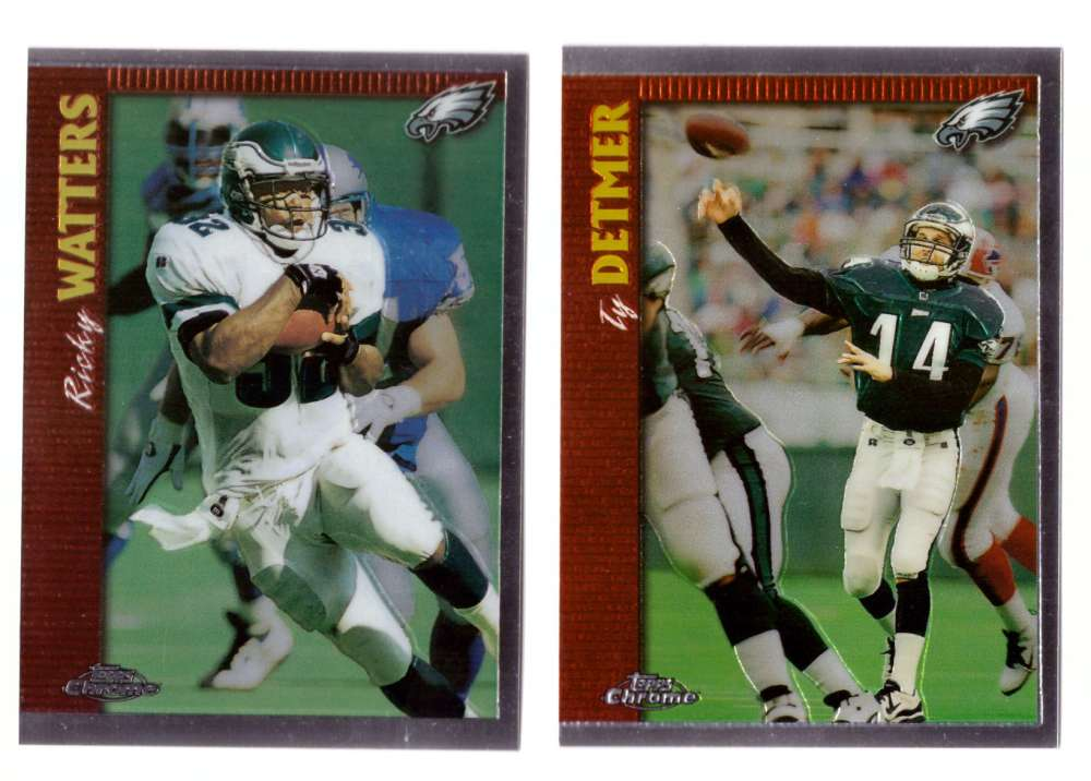 1997 Topps Chrome Football Team Set - PHILADELPHIA EAGLES