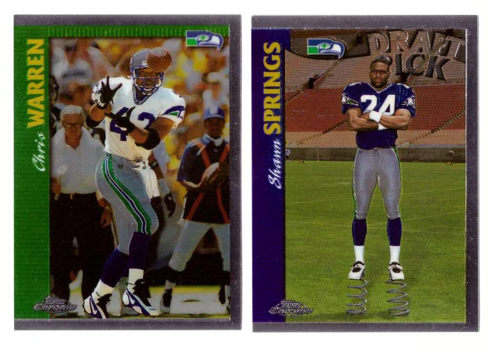 1997 Topps Chrome Football Team Set - SEATTLE SEAHAWKS