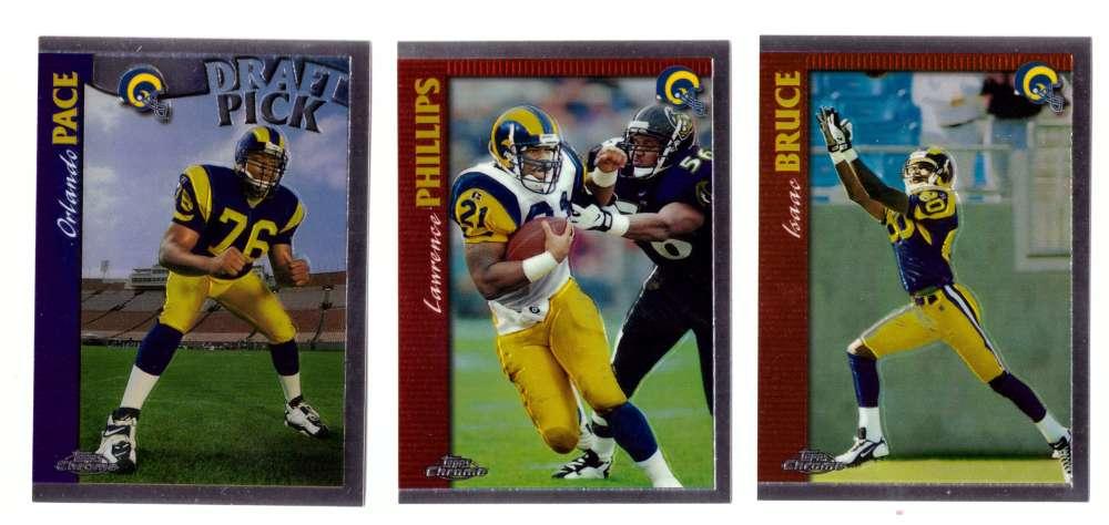 1997 Topps Chrome Football Team Set - ST. LOUIS RAMS