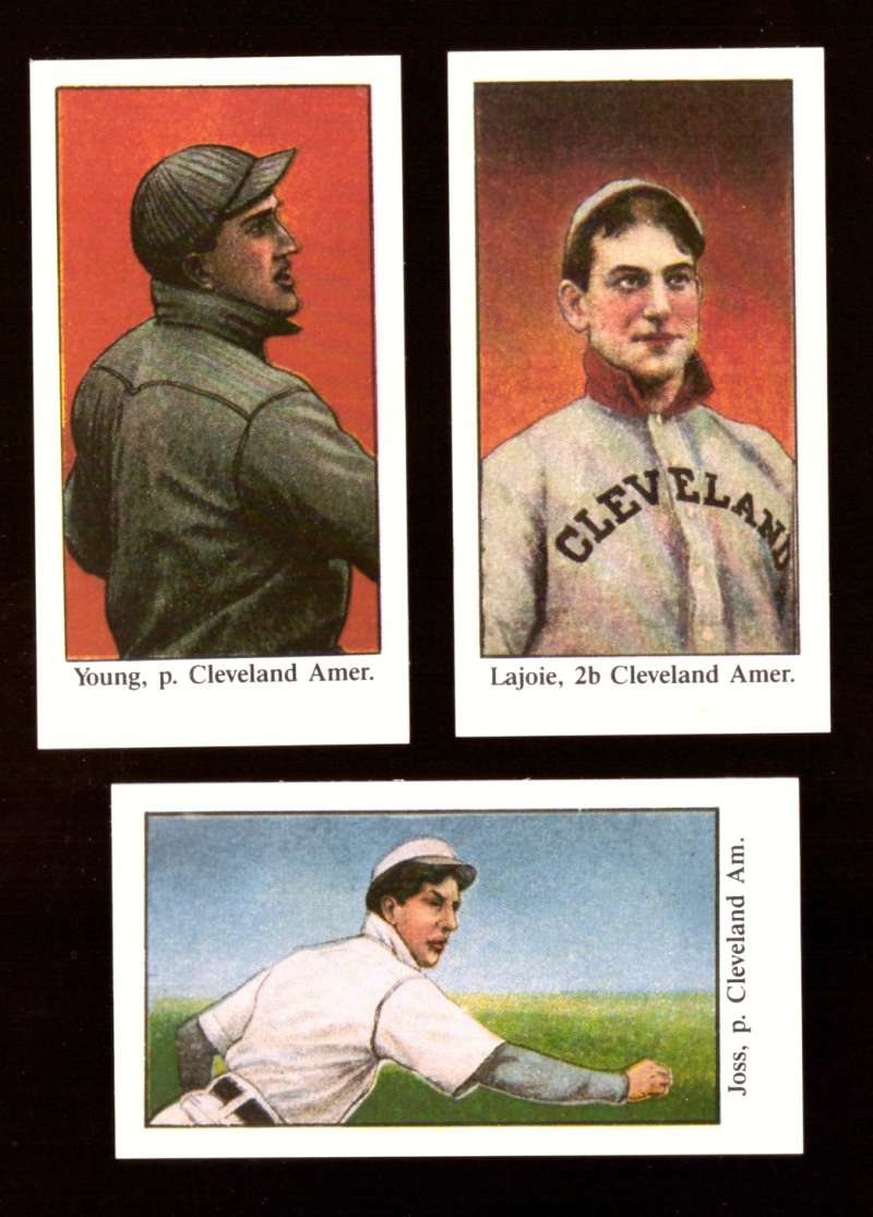 1909 American Caramel E90-1 Star Reprints - CLEVELAND INDIANS