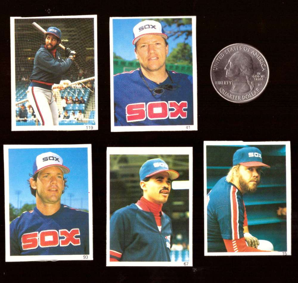 1987 Red Foley Stickers - CHICAGO WHITE SOX