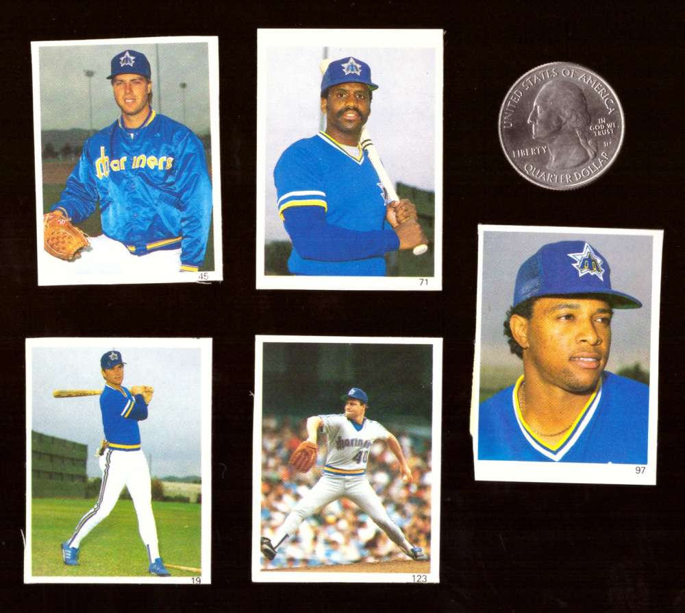 1987 Red Foley Stickers - SEATTLE MARINERS