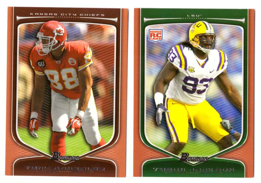 2009 Bowman Draft ORANGE Football - KANSAS CITY CHIEFS