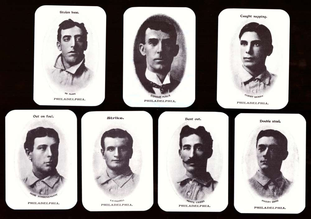 1904 Fan Craze AL WG2 Reprints - PHILADELPHIA ATHLETICS