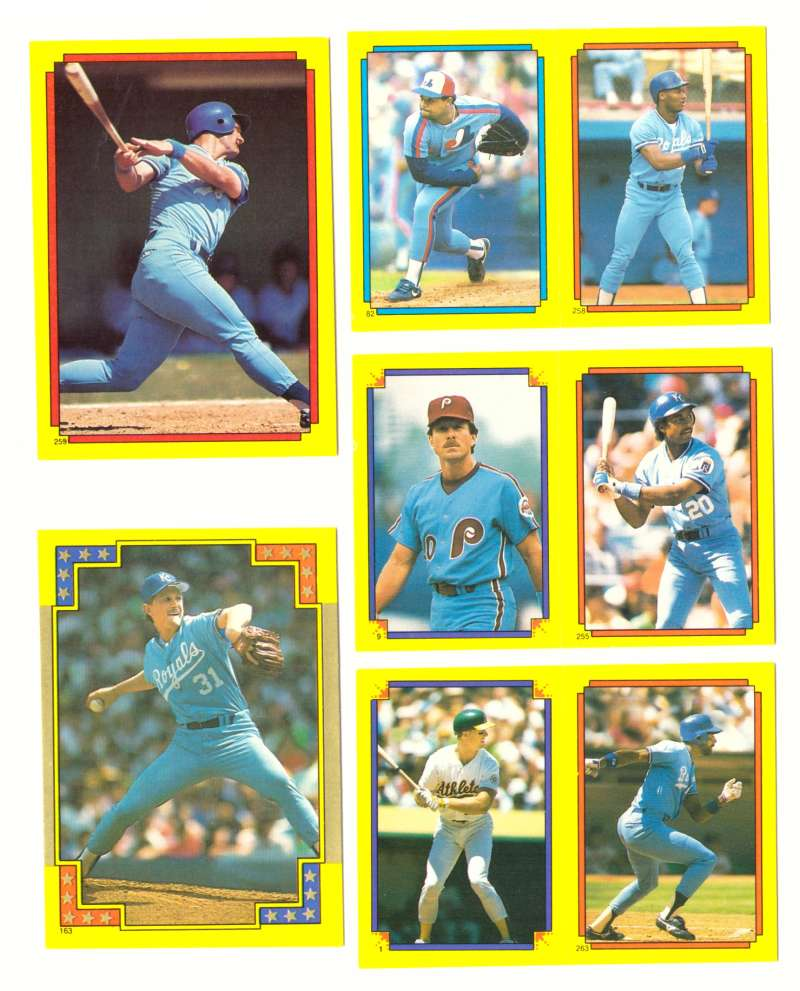 1988 O-Pee-Chee Stickers - KANSAS CITY ROYALS Team Set