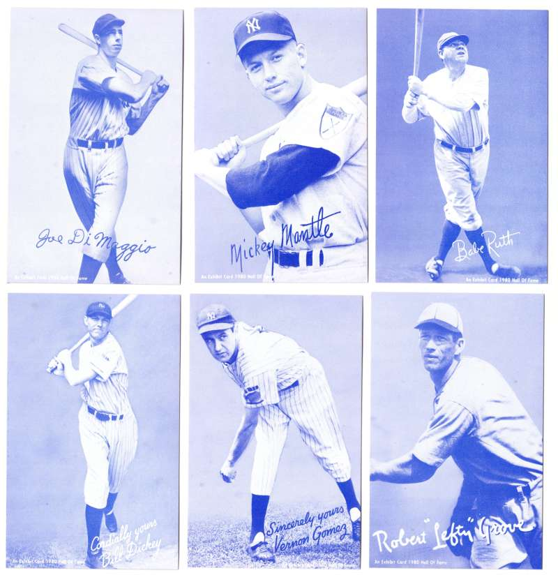 1980 Exhibit Hall of Fame Blue Tint - New York Yankees