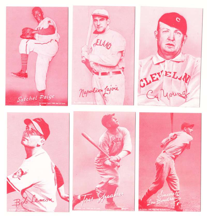 1980 Exhibit Hall of Fame Red Tint - Cleveland Indians