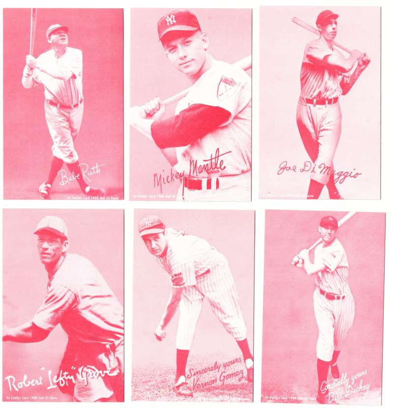 1980 Exhibit Hall of Fame Red Tint - New York Yankees
