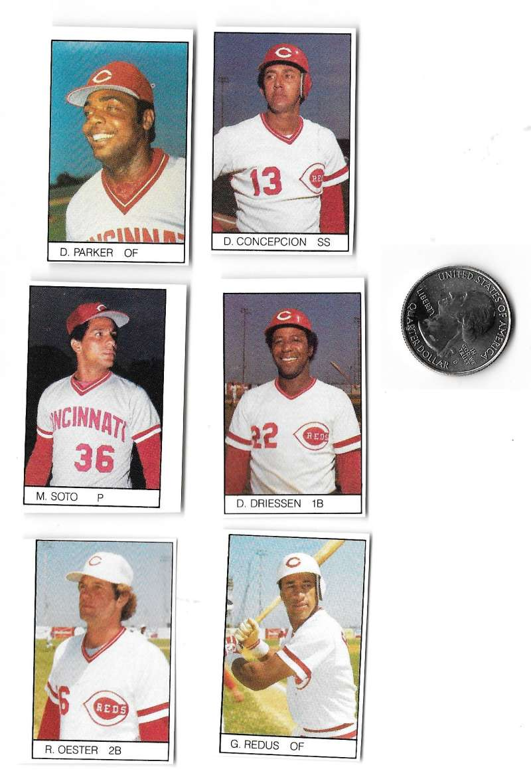 1984 All-Star Game Program Inserts CINCINNATI REDS Team Set
