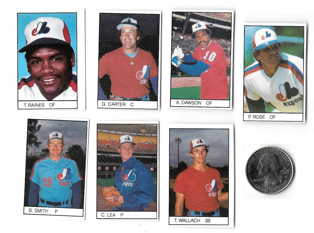 1984 All-Star Game Program Inserts MONTREAL EXPOS Team Set