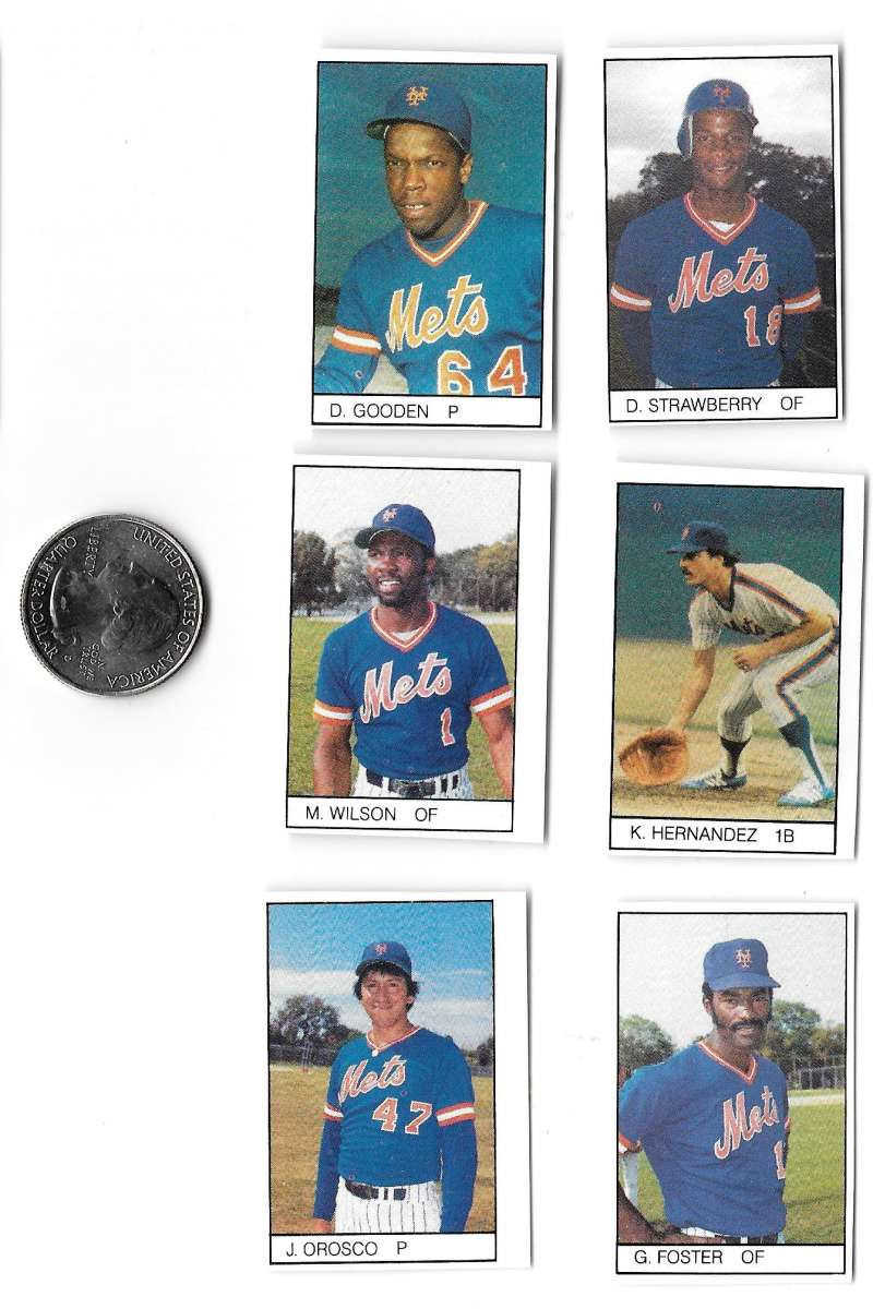 1984 All-Star Game Program Inserts NEW YORK METS Team Set