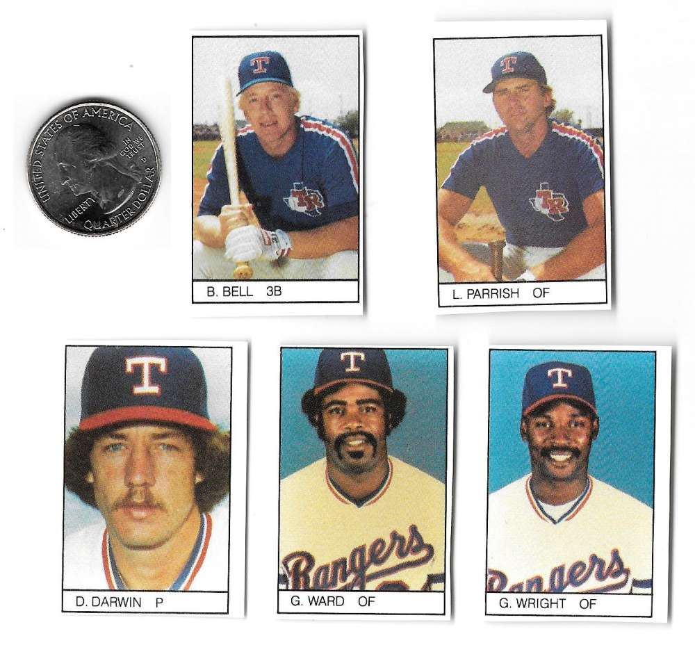 1984 All-Star Game Program Inserts TEXAS RANGERS Team Set