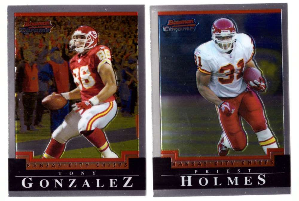 2004 Bowman Chrome Football Team Set - KANSAS CITY CHIEFS