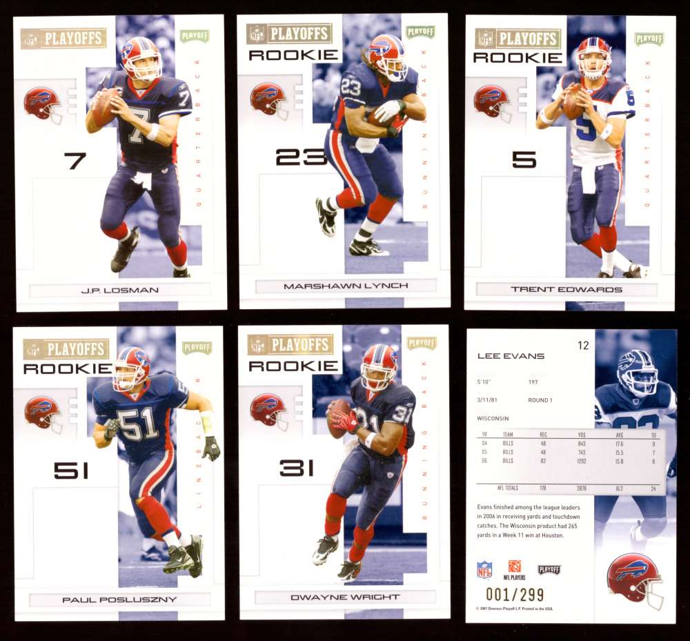2007 Playoff NFL Gold Team Set (#ed 001/299) - BUFFALO BILLS