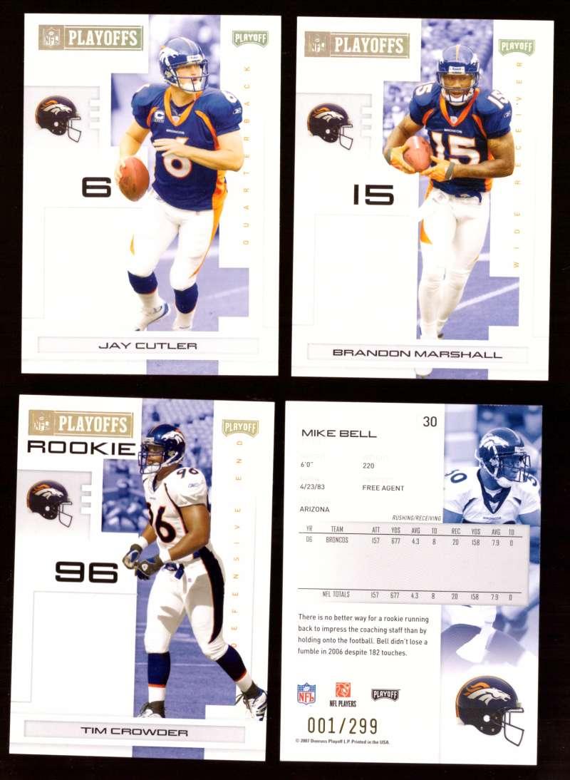 2007 Playoff NFL Gold Team Set (#ed 001/299) - DENVER BRONCOS