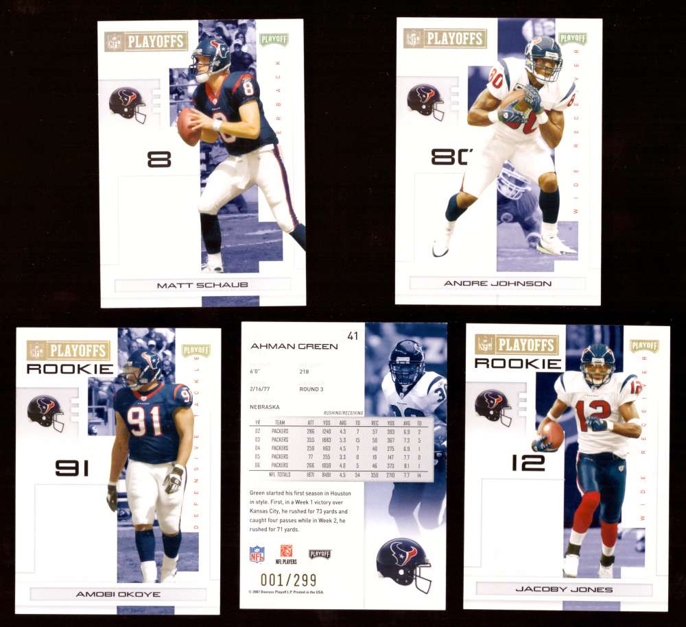 2007 Playoff NFL Gold Team Set (#ed 001/299) - HOUSTON TEXANS