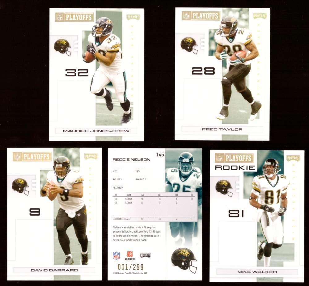 2007 Playoff NFL Gold Team Set (#ed 001/299) - JACKSONVILLE JAGUARS