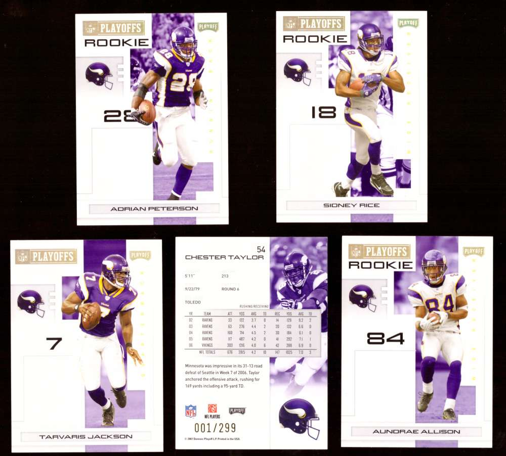 2007 Playoff NFL Gold Team Set (#ed 001/299) - MINNESOTA VIKINGS