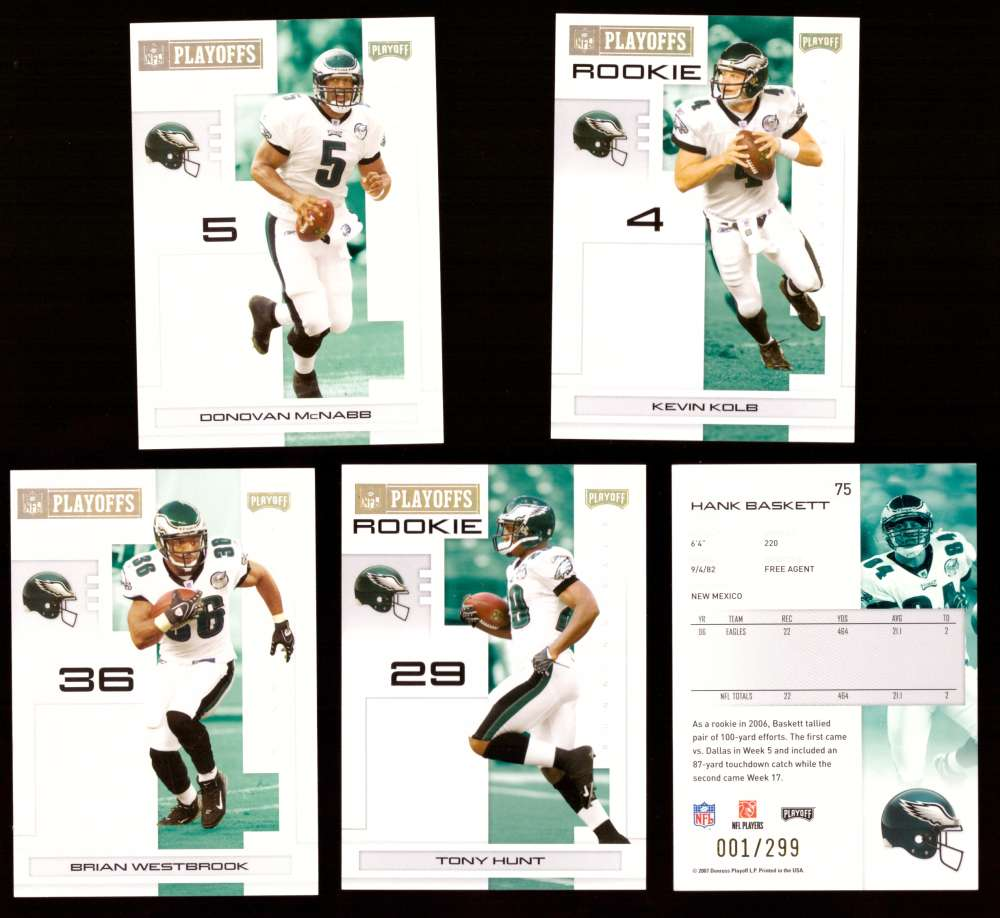 2007 Playoff NFL Gold Team Set (#ed 001/299) - PHILADELPHIA EAGLES