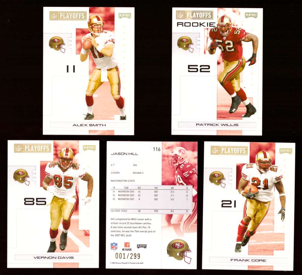 2007 Playoff NFL Gold Team Set (#ed 001/299) - SAN FRANCISCO 49ERS