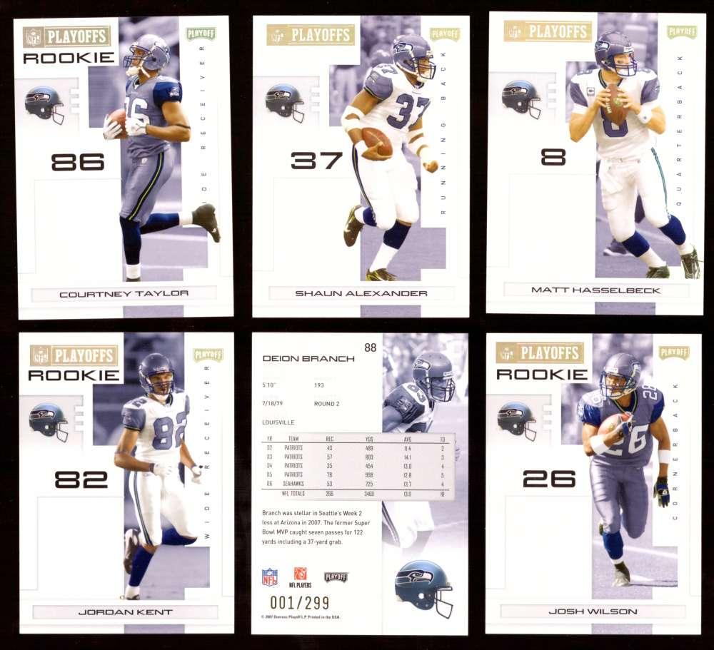 2007 Playoff NFL Gold Team Set (#ed 001/299) - SEATTLE SEAHAWKS