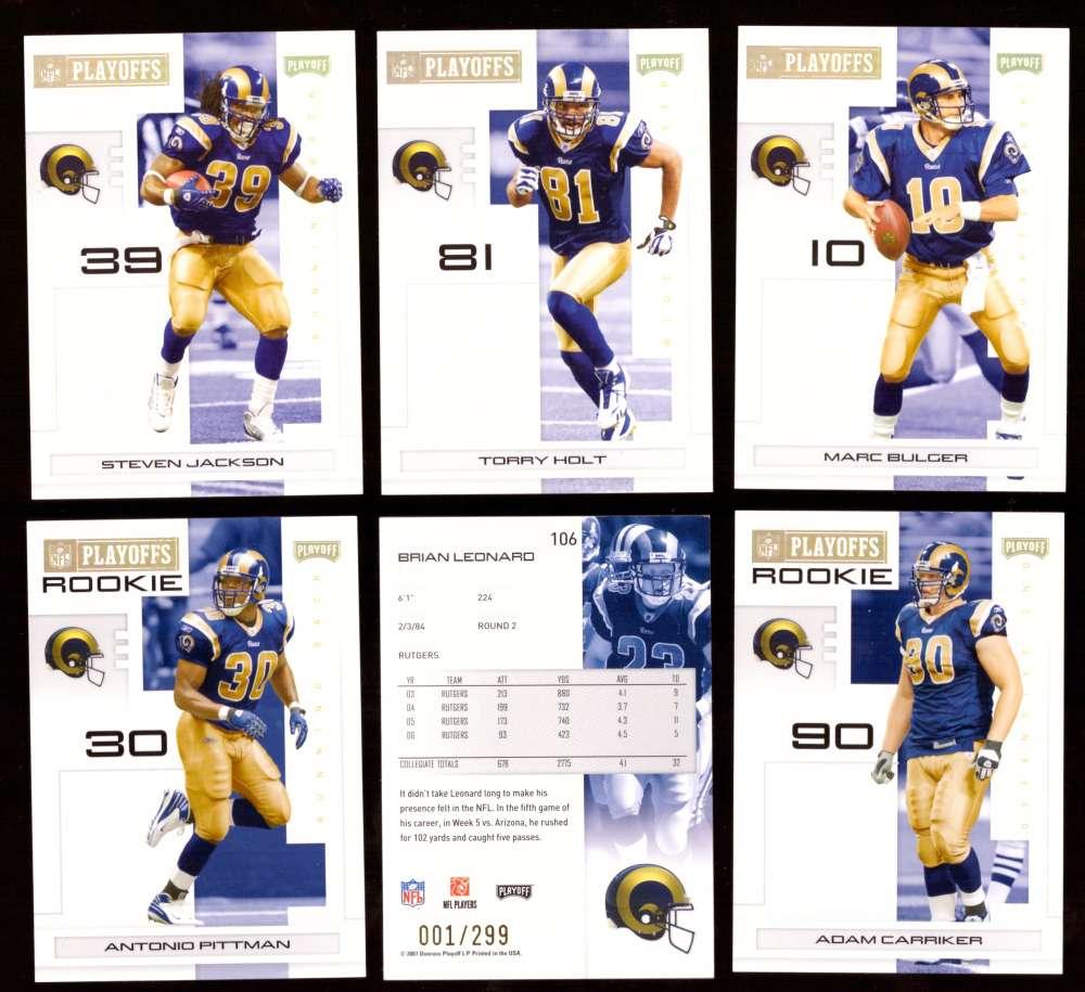 2007 Playoff NFL Gold Team Set (#ed 001/299) - ST. LOUIS RAMS
