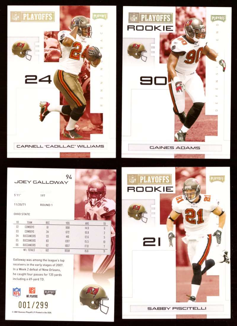2007 Playoff NFL Gold Team Set (#ed 001/299) - TAMPA BAY BUCCANEERS