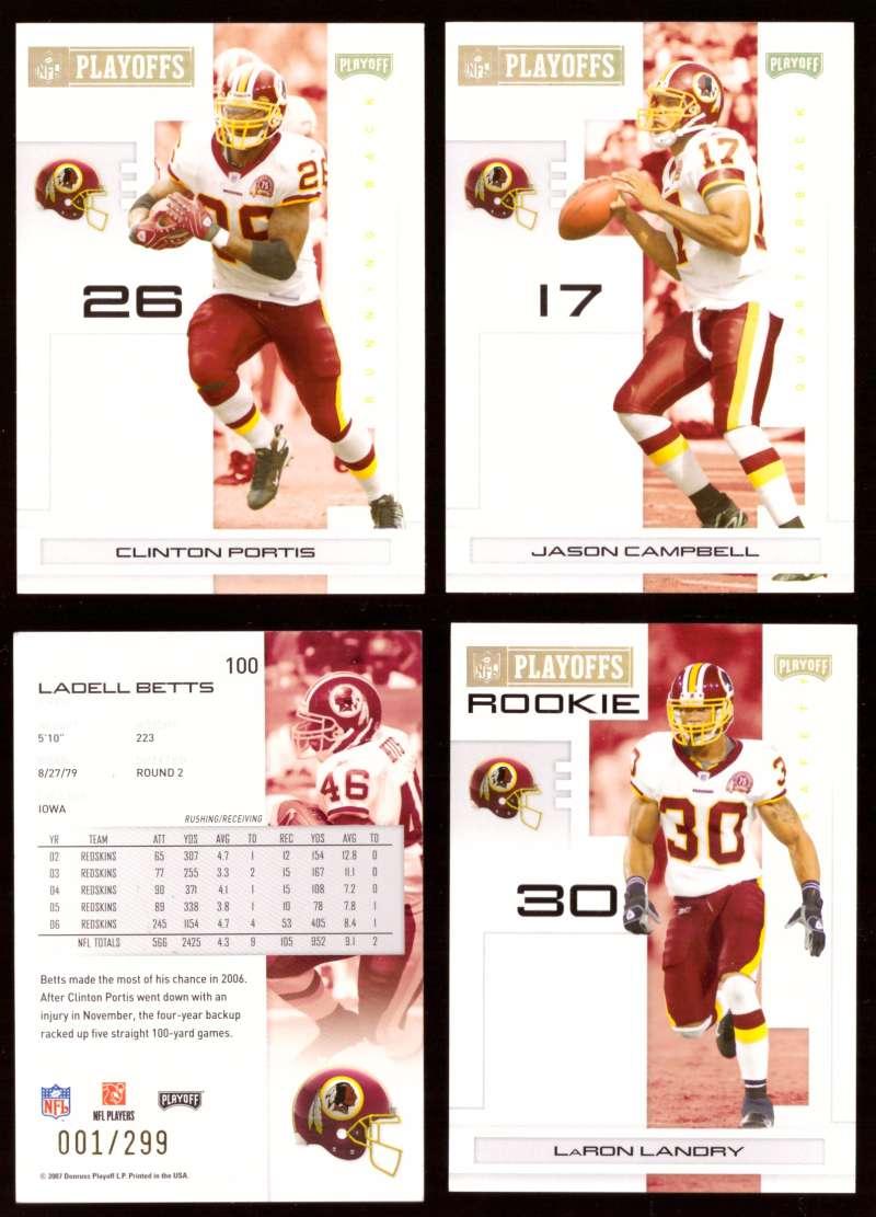 2007 Playoff NFL Gold Team Set (#ed 001/299) - WASHINGTON REDSKINS