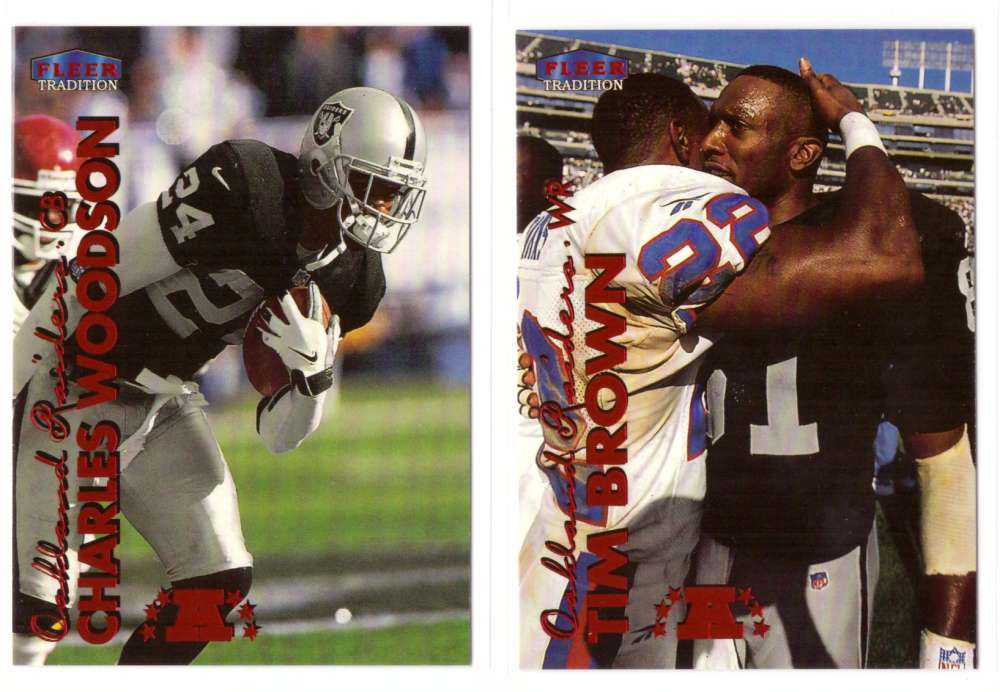 1999 Fleer Tradition Football Team Set - OAKLAND RAIDERS