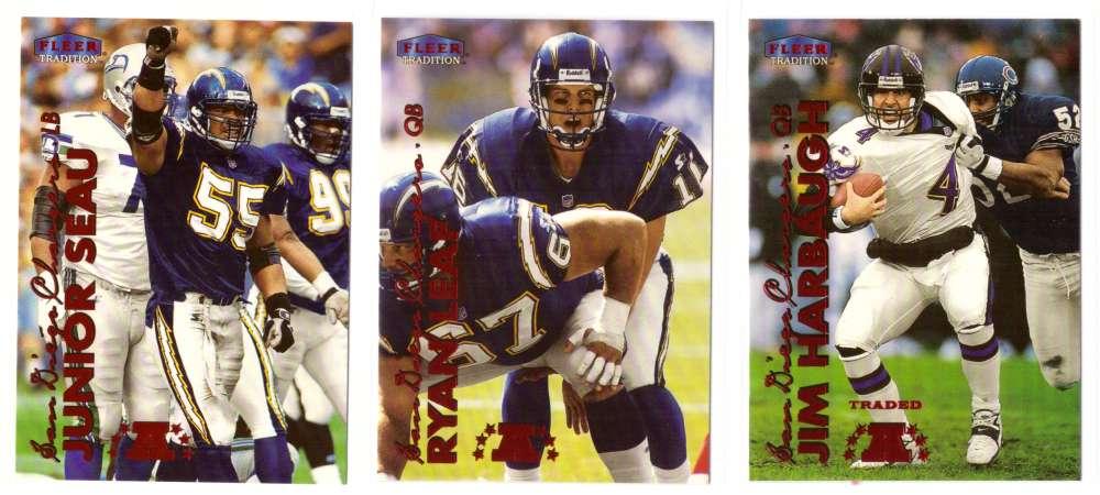 1999 Fleer Tradition Football Team Set - SAN DIEGO CHARGERS