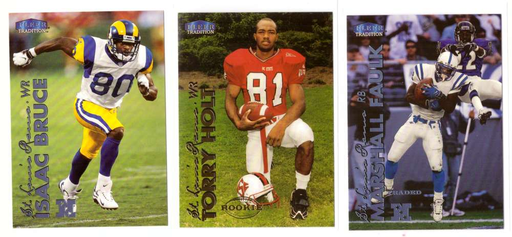 1999 Fleer Tradition Football Team Set - ST. LOUIS RAMS