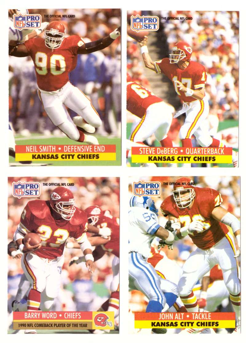 1991 Pro Set Football Team Set - KANSAS CITY CHIEFS