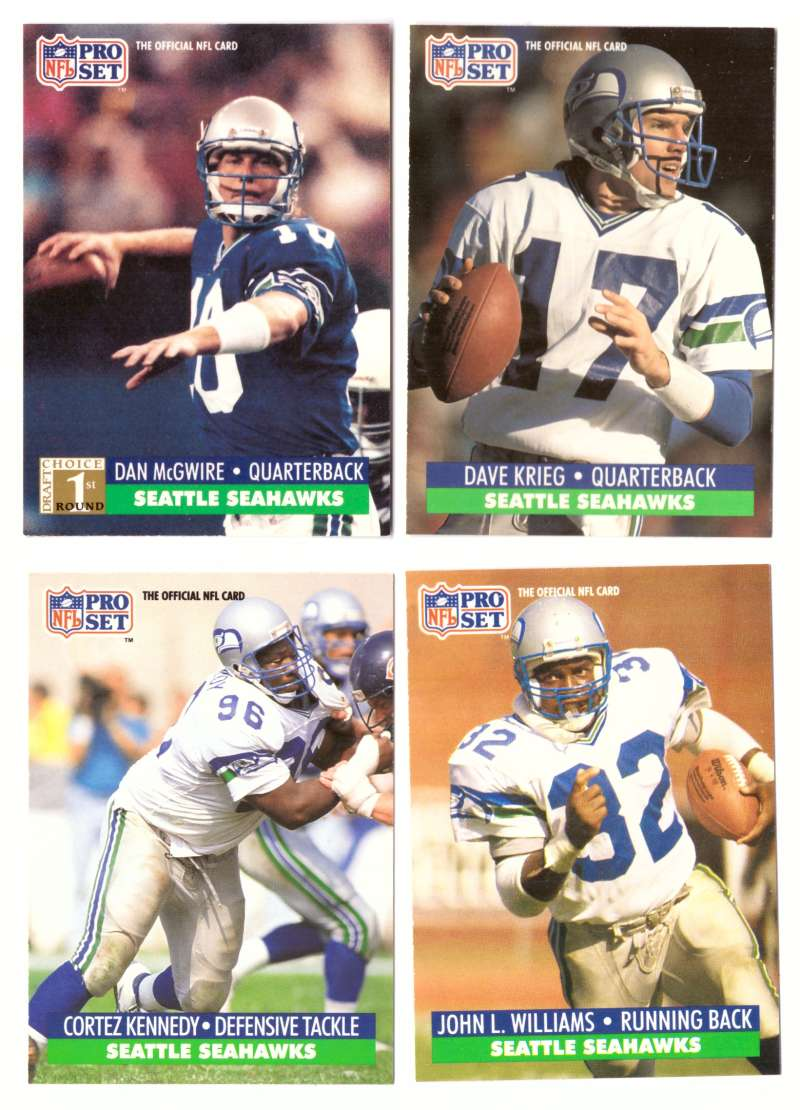 1991 Pro Set Football Team Set - SEATTLE SEAHAWKS