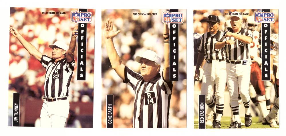 1991 Pro Set Football - Officials