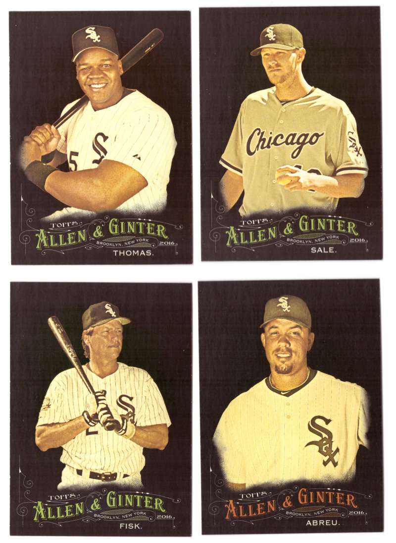 2016 Topps Allen and Ginter X (Black) - CHICAGO WHITE SOX Team Set