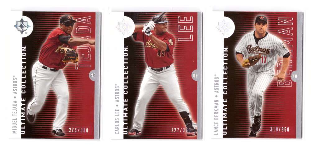 2008 Ultimate Collection #ed/350 - HOUSTON ASTROS Team set