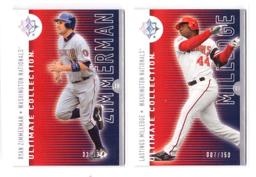 2008 Ultimate Collection #ed/350 - WASHINGTON NATIONALS Team set